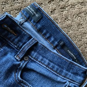 "Banana Republic ""Girlfriend"" crop jeans."